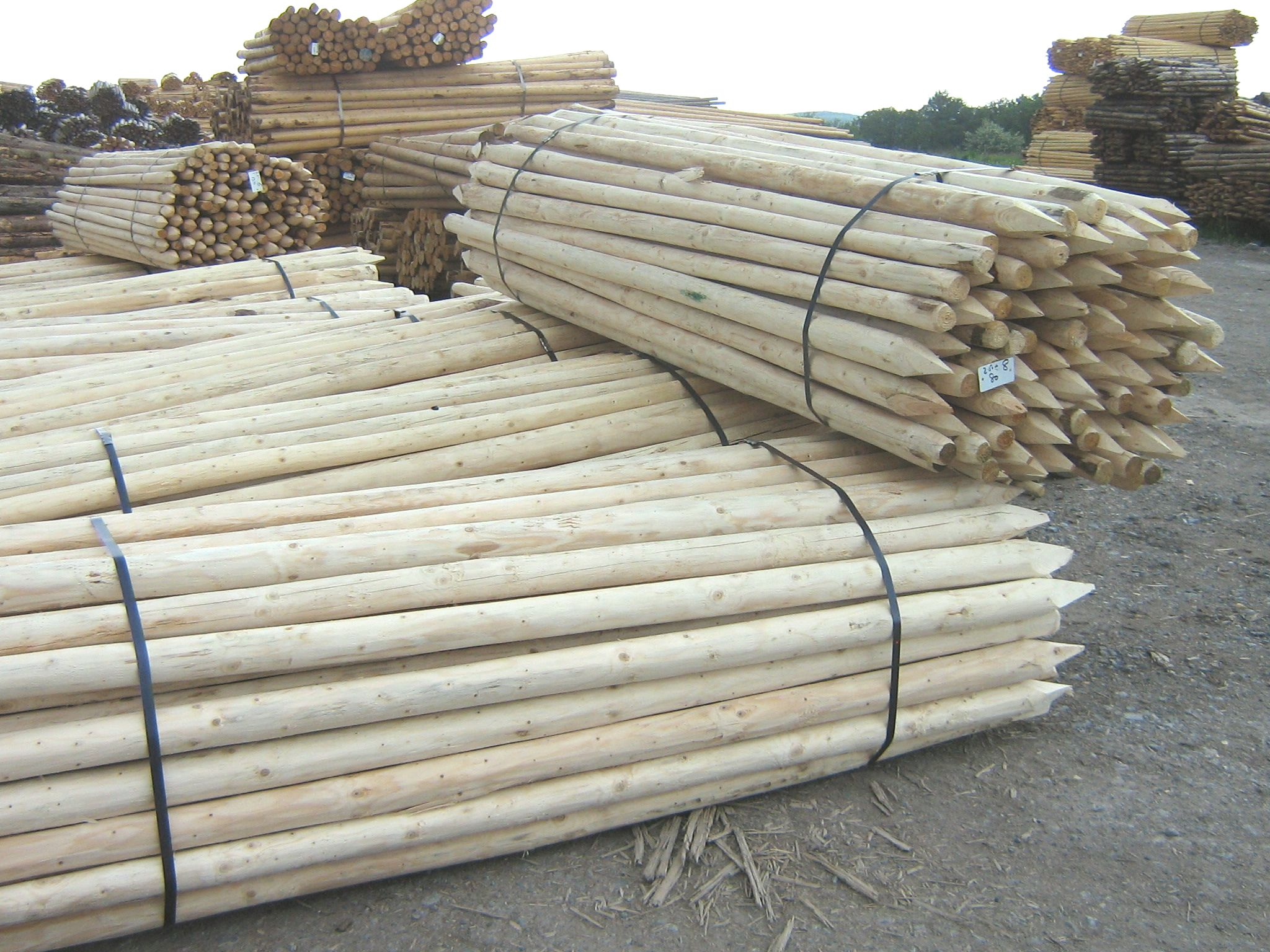 Roundwood Fencing Posts Tree Stakes And Piles